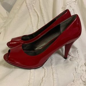 Mods Spana Red Patent Pumps